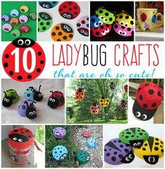 10 Adorably Easy Ladybug Crafts for Kids!