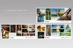 Facebook Timeline Template Bundle by Template Shop on Creative Market