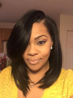 Sew in Bob Styles Bob Hairstyles quick weave bob hairstyles Sew In Bob Hairstyles, Baddie Hairstyles, Quick Weave Hairstyles Bobs, Medium Black Hairstyles, Black Hairstyles With Weave, Hairstyles Videos, Feathered Hairstyles, Pretty Hairstyles, Curly Hair Styles