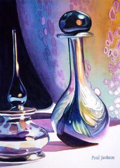 """""""Uncommon Friends"""" Art Glass Watercolor, Paul Jackson"""