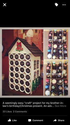 Beer advent calendar. Alcohol Advent Calendar, Craft Beer Advent Calendar, Advent Calendar Boxes, Christmas Tree Advent Calendar, Advent Calendars For Kids, Beauty Advent Calendar, Kids Calendar, Advent Calenders, Navidad