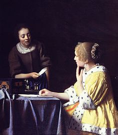 Lady Maidservant Holding Letter