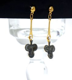 St. Patrick's Day Earrings Shamrock Earrings by GimmeeDatBling