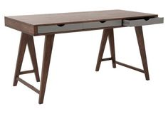 Brooke Desk, Walnut $669