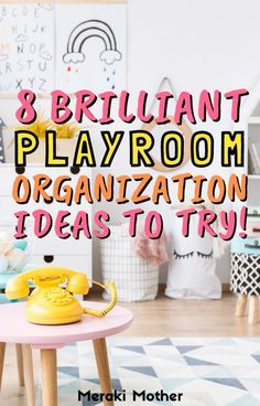Sick of having a messy playroom? We've rounded up the eight best organization hacks for playrooms! #playroom #organize #homehacks #playroomorganize #organizehacks Kids Room Organization, Playroom Organization, Organizing Life, Organizing Ideas, Toy Storage Furniture, Playroom Furniture, Lego Table With Storage, Getting Organized At Home, Fabric Boxes
