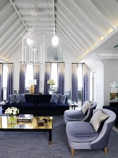 Connaught Hotel London The Apartment Penthouse Living Area Living Room Designs, Living Room Decor, Living Area, Dining Room, Ombre Curtains, Blue Drapes, Top Interior Designers, Best Interior, Interior Modern