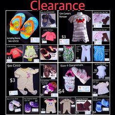 Only 1 & 2 BUCKS FOR EACH!   Huge Clearance!  Making room for more cuteness!  Way more clearance items here https://baby-girl-heaven.myshopify.com/collections/all?sort_by=price-ascending