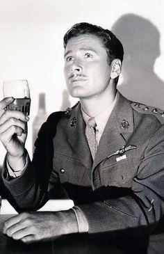"""Errol Flynn in a promotional shoot for """"The Dawn Patrol"""", 1938"""