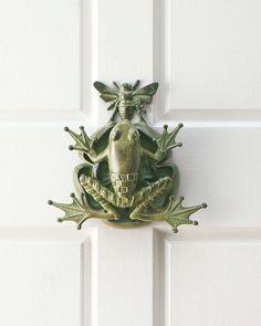 Frog & Bee Door Knocker by MacKenzie-Childs at Neiman Marcus.