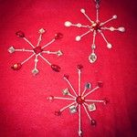 Jeweled snowflake tree ornaments