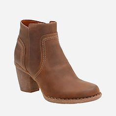 Carleta Paris Brown Oiled Nubuck - Ortholite Shoes For Women - Clarks® Shoes - Clarks® Shoes Official Site