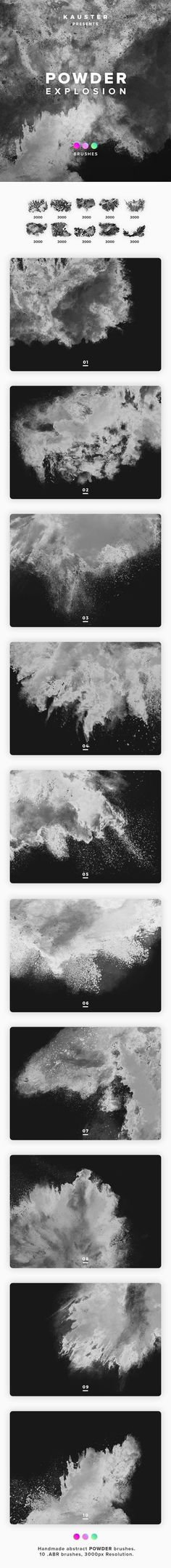 Buy Powder Explosion Brushes by kauster- on GraphicRiver. Powder Explosion Brushes This pack includes 10 Powder Explosion Brushes. Suitable for printing, web design, banners,. Adobe Photoshop, Photoshop Actions For Photographers, Best Photoshop Actions, Photoshop Presets, Photoshop Brushes, Web Design, Graphic Design, Photo Manipulation, Artist At Work