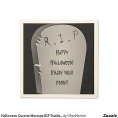 Halloween Custom Message RIP Tombstone