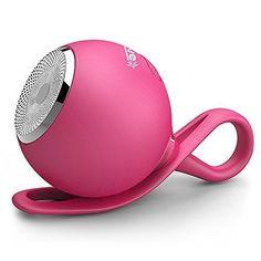 Alienwave Waterproof Wireless Bluetooth Speaker For Portable Outdoor or Shower with Dustproof ShockProof and Microfiber Cleaner - Pink