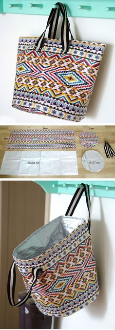 Market Baskets Tote Bag Tutorial  http://www.free-tutorial.net/2016/12/market-baskets-tote-bag.html