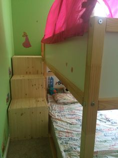 IKEA Kura bed with Trofast stairs