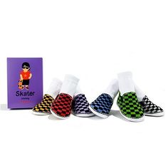 Trumpette Baby Socks-Skater Johnny (Size 0-12 Months) by Trumpette. $28.95. Have your baby styling in no time with Skater Johnny's! Six pairs of different colored low top checkered patterned shoe socks. Size 0-12 Months.