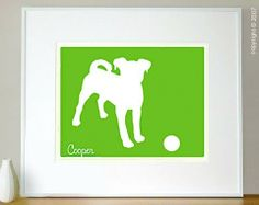 Your Custom Pet Silhouette - Commission an Original Mod Dog Print - custom made from your photo on Etsy, $85.00