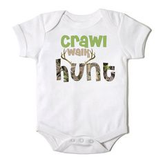 Crawl Walk Hunt Onesie for the Baby One Piece by CasualTeeCo, $14.00
