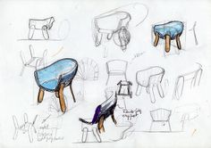 Ding3000 | Pocket Chair | Process Sketches | Furniture Design