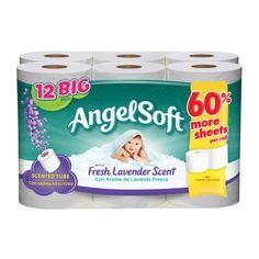 Angel Soft Bath Tissue with Fresh Lavender scent -12 roll - Dollar General