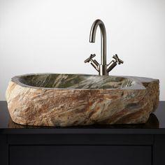 Sink Rocks Bathroom : ... bathroom vessel sinks sinks faucets bathroom sinks stones vessel sinks