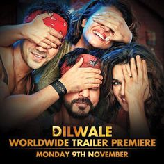 Dilwale Movie Trailer Download HD - Shah Rukh Khan, Kajol, Krithi, Varun Dhawan. Dilwale Trailer and First Look Teaser/ Trailer of Dilwale is Launched Premier in the Event on November 9, 2015 Exclusively.
