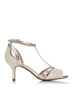 Cream Kitten Heel Sandal - Wallis