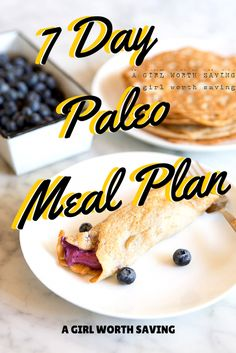 7 day paleo weight loss meal plan // agirlworthsaving.net