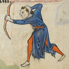 "Detail from ""The Rutland Psalter"", medieval (c1260), British Library Add MS 62925. f 67v"