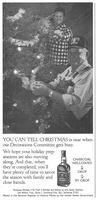 Jack Daniel's Christmas Decorations 1984 Ad Picture