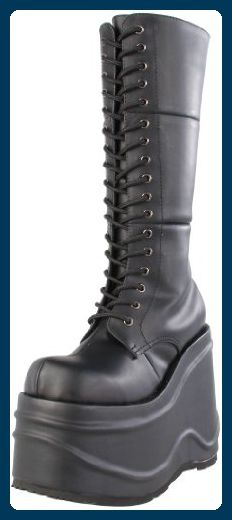 Demonia WAVE-302 Blk Vegan Leather UK 7 (EU 40 ) - Damen pumps (*Partner-Link)