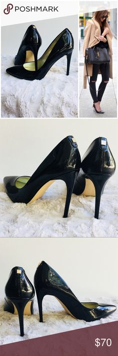 Black Patent Leather stilettos EUC! Ivanka Trump stilettos. Shows very light wear. Sexy & classic!  4 in heel. *All my shoes I sell receive 5 stars so you won't be disappointed! Ivanka Trump Shoes Heels