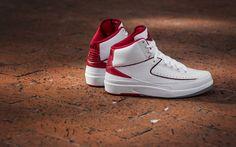 low priced 5c1d4 7fadf Click to order - Air Jordan 2 White Varsity Red on Amazon size 9 M  fashion   nike  shopping  sneakers  shoes  basketballshoes  airjordan  retro