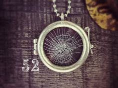 Charlotte's Web Talisman Necklace  Real Spider Web 52 by wlcook, $40.00