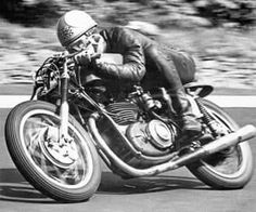 THE GOLDEN YEARS — Mike Hailwood on a 250cc DOHC Benelli single, at...