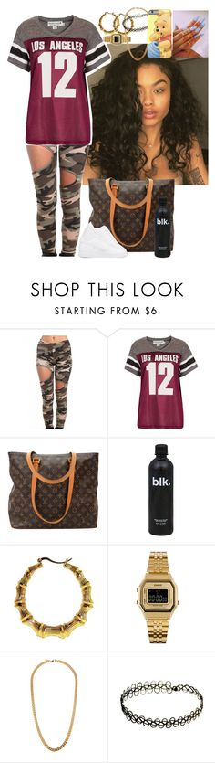 """Untitled #2783"" by astoldby-kay ❤ liked on Polyvore featuring Akira, Project Social T, Louis Vuitton, NIKE, Casio and Claude Montana"