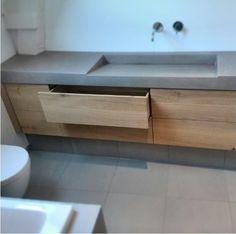 betonnen blad hout meubel - foto van Instagram jongensdewit