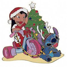 DISNEY PINS LILO & STITCH at Christmastime LE 250