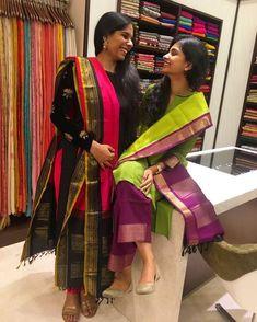 Always happy in our South Indian Sarees, Indian Silk Sarees, Pure Silk Sarees, Silk Dupatta, Churidar Designs, Kurta Designs Women, Blouse Designs, Dress Designs, Kanchi Organza Sarees