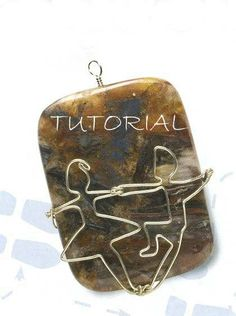 Dancers pendant wire wrapped tutorial by CreationsbySasuga on Etsy, $5.00