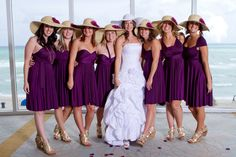 Bridesmaid Dress - Convertible Dress Jersey Infinity Wrap Style. $83.00, via Etsy.
