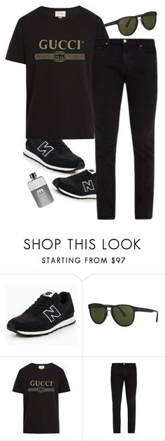 """"""""""" by taaniia on Polyvore featuring New Balance, Prada, Gucci and Frame"""