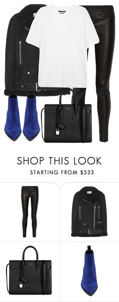 """Untitled #2742"" by elenaday on Polyvore featuring Helmut Lang, Acne Studios, Yves Saint Laurent and Isabel Marant"