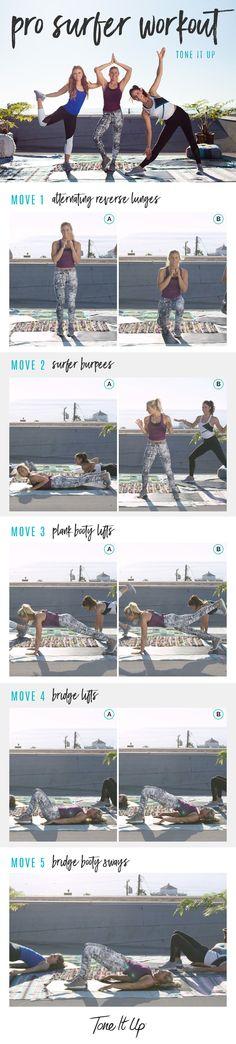 Tone It Up Pro Surfer Workout with Karena, Katrina, & Sage