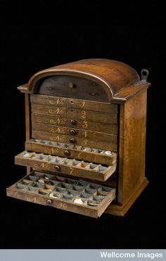 Materia medica chest, Netherlands, 1750-1850, courtesy of wellcome