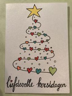 Diy Holiday Cards, Christmas Card Crafts, Xmas Cards, Diy Cards, Xmas Drawing, Christmas Drawing, Christmas Doodles, Watercolor Christmas Cards, Christmas Rock
