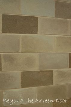 Painted Cinderblock Basment | ... Wall Measures 10u2032 High X 47u2032 Wide