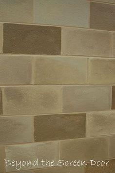 Awesome Painted Cinderblock Basment | ... Wall Measures 10u2032 High X 47u2032 Wide