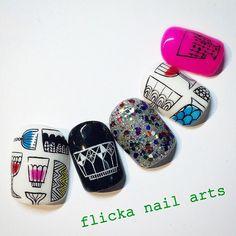 かわいいネイルを見つけたよ♪ #nailbook Bling Nails, Red Nails, Cute Nails, Pretty Nails, Korea Nail Art, Nail Pops, Hello Kitty Nails, Space Nails, Modern Nails